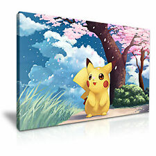 POKEMON Pikachu canvas wall art Wood Framed Ready to Hang XXL