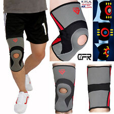 Pair of Knee Brace Compression Sleeve Sports Support Padded Running Joint Pain