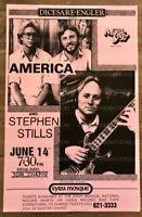 America Stephen Stills Concert Poster 1986