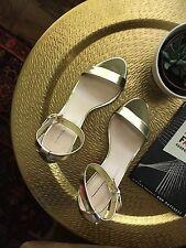 J Crew Mirror Gold Metallic High-Heel Sandals 8.5