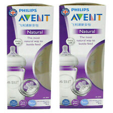 2 x Brand New Phillips Avent SCF053  17  Natural glass bottle, 240 ml twin pack