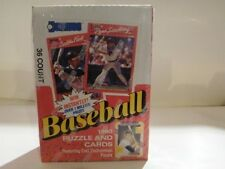 1990 Donruss Puzzle & Baseball Cards Factory Sealed Box 36 Count