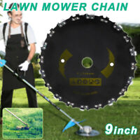 """Chain Saw Tooth Brush Cutter Grass Blade Heavy Duty 9"""" for Gas Electric Trimmer"""