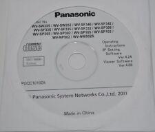 Panasonic Wv Series Security Camera Instructions/Ip Setting/Viewer Software Cd