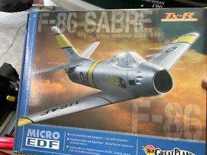 Great Planes F-86 SABRE Micro EDF Transmitter Ready # GPMA1771 Umx Size RC Jet