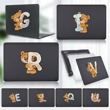 For Apple Macbook Air Pro 13 15 inch/M1 2020 - Bear initials Matted Cover Case