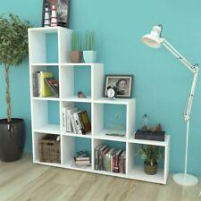 vidaXL Staircase Bookcase White Home Book Display Shelf Storage Unit Decor