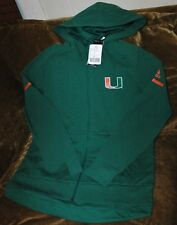 Miami Hurricanes hoodie woven jacket women's medium NEW with tags Adidas green