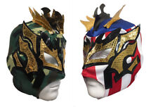 2 pack KALISTO YOUTH KIDS Wrestling Mask Lucha Libre Mask Party Pack USA CAMMO