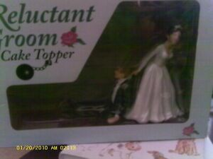 Accoutrements Novelty funny wedding gift Reluctant Groom cake topper new