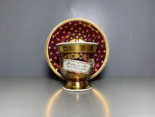 KPM BERLIN GEDECK TASSE UT PURPURLÜSTER SCHRIFTBAND GOLD STERNE 1.WAHL UM 1820