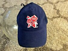 London 2012 Summer Olympics Blue Embroidered Cap Hat BNWT New OSFA Adjustable