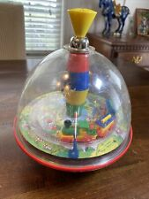 Vintage Bolz Panorama Spinning Top Train w Sounds! West Germany Works! Bolz