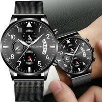 CUENA Men's Stainless Steel Luxury Military Analog Sport Quartz Wrist Watch #878