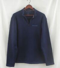 Men's REALTREE 1/4 Zip Navy Blue Knit Pullover Fleece Lined Size Med M
