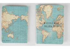 VINTAGE WORLD MAP ATLAS MINI NOTEBOOK A LITTLE BOOK FOR BIG IDEAS TRAVEL GIFT