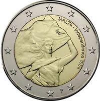 Malta 2 Euro 2014 Unabhängigkeit Independence 1964 mit Münzmeisterzeichen
