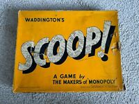 ⭐ Vintage 1950's SCOOP Waddington's 50's Newspaper BOARD GAME Boxed COMPLETE ⭐