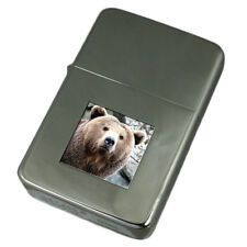 Engraved Lighter Wild Brown Bear