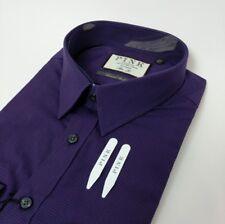 Thomas Pink Mens Shirt Slim Fit Purple Gingham Check 16.5 - 44cm New RRP£145