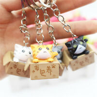 4PCS Cats Keyring Cartoon Cat Key Chain Car Key Ring Pendant Bag Purse Gifts_ti