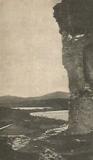 D0068 Avigliana - Laghi visti dal Castello - Stampa d'epoca - 1925 old print