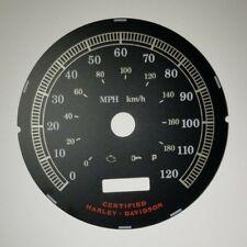 5I Harley Davidson MPH Speedometer Black Gauge Face 12210396