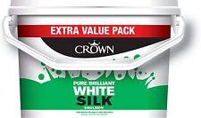 Crown Seta Emulsione Puro Bianco Brillante Muro & Soffitto Pittura
