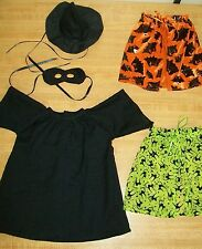 """WITCH HALLOWEEN COSTUME DRESS HAT MASK SET OF 2 CAPES for 16"""" CPK Cabbage Patch"""