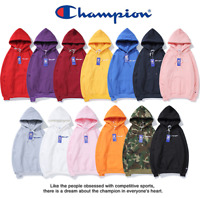 New 2019 Women's Men's Classic Champion Hoodies Embroidered Hooded Sweatshirts