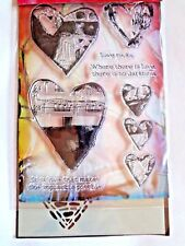INKADINKADO Clear Rubber Stamps / STENCILS HEARTS, LOVE, VALENTINES DAY