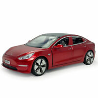 1:32 Scale Tesla Model 3 Model Car Alloy Diecast Gift Toy Vehicle Kids Red Sound