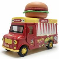 1:32 Hamburger Imbisswagen Die Cast Modellauto Auto Spielzeug Model Sammlung