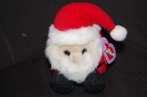 Puffkins Santa HoHo Christmas Holiday Red White Black NWT Retired Plush Lovey