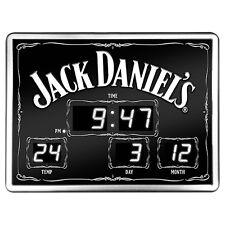 123631 JACK DANIEL'S DANIELS SCOREBOARD DIGITAL LED CLOCK TIME DATE TEMPERATURE