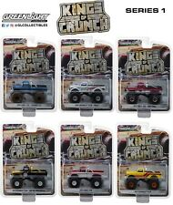 1:64 GreenLight *KINGS OF CRUNCH SERIES 1* SET OF 6 MONSTER TRUCKS *NIP*