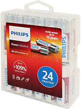 Philips Power Alkaline Battery Aa 24-Value Pack (Lr6P24Pc/27) Bb Date: 01-2028