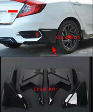 Front Rear Diffuser Protector Bumper for 2016 Honda Civic 10th 4dr Sedan Black