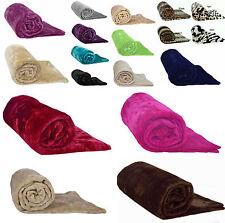 Faux Fur Mink Throw Single Double King Size Luxury Fleece Sofa Blanket Bed Throw