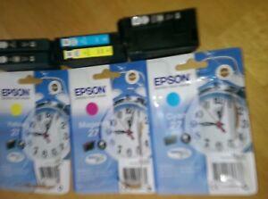 Epson 27 Printer Cartridges x 8 Empty Never been refilled