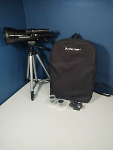 Celestron D70 70mm Travel Portable Refractor Telescope With Backpack/Accessories