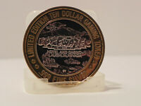 EDGEWATER LIMITED EDITION TEN DOLLAR GAMING TOKEN LAUGHLIN NV. .999 FINE SILVER
