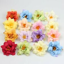 "10-100Pc Silk Artificial Bud 2"" Rose flower head Wedding Wreath DIY Fake Flowers"