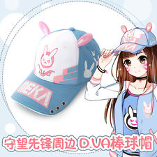 Overwatch Game Hot DVA Cosplay Costume Hat Rabbit Baseball Sun Fashion Cap New