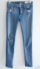 Rag and Bone factory destroyed skinny jeans light blue wash size 27 small s