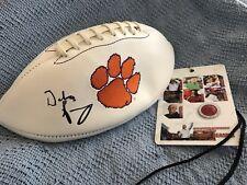 Dabo Swinney Autograph Signed Clemson Full Size Logo Football Beckett COA