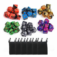 6set 42pcs Polyhedral Dice DND RPG Game Poker Card Dungeons Dragons Party + bags