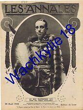 Les annales n°1730 du 20/08/1916 Alphonse XIII Espagne Manufacture de Sèvres