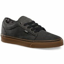 VANS Chukka Low (Washed) Black/Gum Classic Skate Shoes MEN'S 6.5 WOMEN'S 8