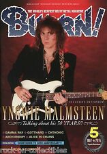 Burrn! Heavy Metal Magazine May 2014 Japan Yngwie Malmsteen Arch Enemy Winger